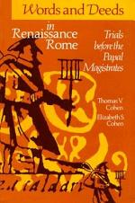 Words and Deeds in Renaissance Rome