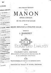 ... Manon: opéra comique in cinq actes et six tableaux