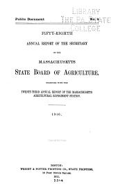 Annual Report of the Secretary: Volume 58, Part 1910