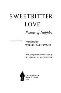 Sweetbitter Love