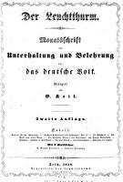 Der Leuchtthurm   Monatsschrift zur Unterhaltung und Belehrung f  r das deutsche Volk   Redigirt von E  Keil PDF