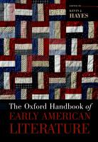 The Oxford Handbook of Early American Literature PDF