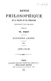 Revue philosophique de la France et de l'étranger: Volume23