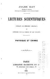 Lectures scientifiques ... physique et chemie