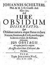De jure obsidum dissertatio accessit alteri huic editioni Auctarium