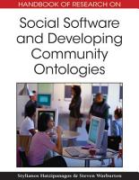 Handbook of Research on Social Software and Developing Community Ontologies PDF