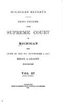 Michigan Reports  1  VOL  1 200 ONLY PDF