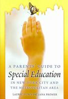 A Parents  Guide to Special Education in New York City and the Metropolitan Area PDF