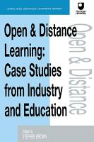 Open and Distance Learning PDF