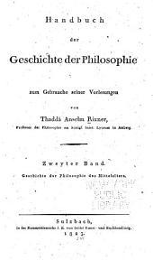 Handbuch der geschichte der philosophie zum gebrauche seiner vorlesungen: Band 2