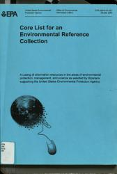 Core List For An Environmental Reference Collection Book PDF