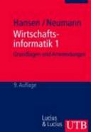 Wirtschaftsinformatik PDF