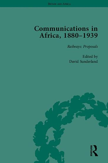 Communications in Africa  1880   1939  set  PDF