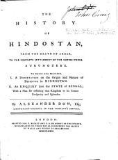 The History of Hindostan: Volume 3