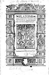 Platonis Opera tralatione Marsilii Ficini, emendatione et ad Graecum codicem collatione Simonis Grynaei, nunc recens summa diligentia repurgata