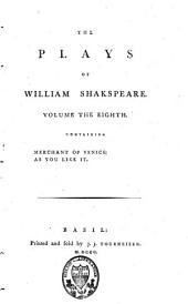 The Plays of William Shakspeare: Volume 8