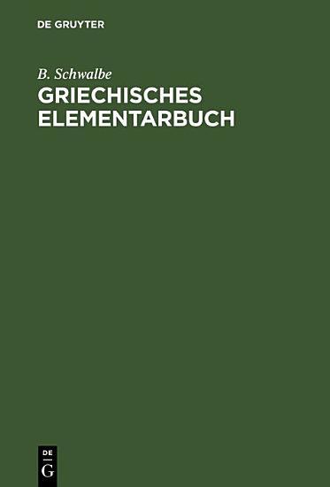 Griechisches Elementarbuch PDF