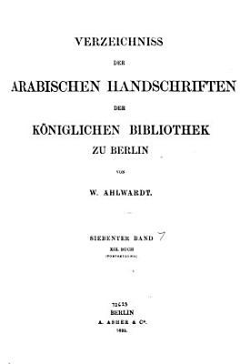 Verzeichnis der arabischen Handschriften PDF