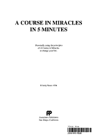 A Course in Miracles in 5 Minutes PDF
