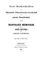 Denkschriften der Schweizerischen naturforschenden gesellschaft PDF