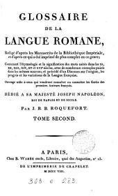 Glossaire de la langue romane: Volume2