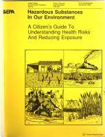 Hazardous Substances in Our Environment PDF