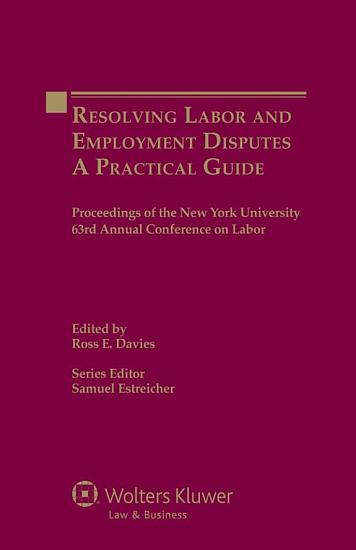Resolving Labor and Employment Disputes PDF