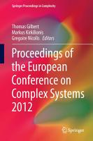 Proceedings of the European Conference on Complex Systems 2012 PDF