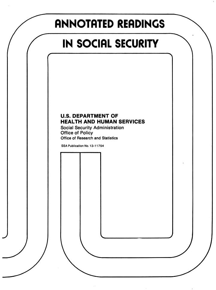 Annotated Readings in Social Security