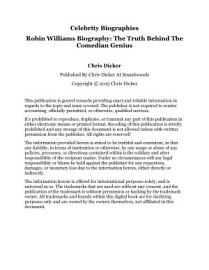 Robin Williams Biography   The Truth Behind The Comedian Genius