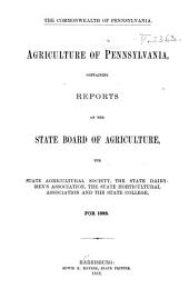 Agriculture of Pennsylvania: Volume 12