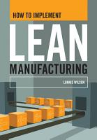 How To Implement Lean Manufacturing PDF