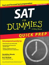 SAT For Dummies 2015 Quick Prep: Edition 9