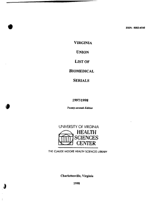 Virginia Union List of Biomedical Serials
