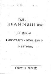 De bello Constaninopolitano