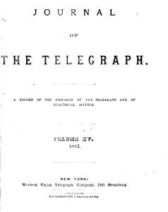 Journal of the Telegraph Book