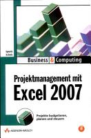 Projektmanagement mit Excel 2007 PDF