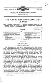 The visual spectrophotometry of dyes