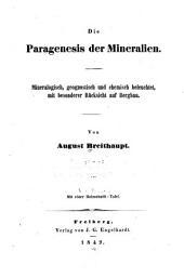 Die Paragenesis der Mineralien