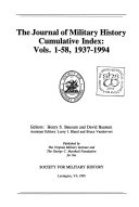 The Journal of Military History Cumulative Index PDF