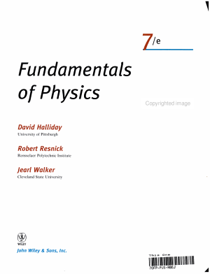 Fundamentals of Physics  Part 1  Chapters 1 11  PDF