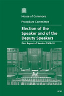 Election of the Speaker and of the Deputy Speakers