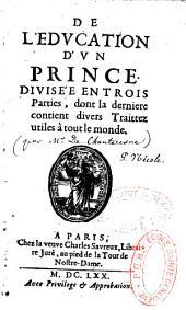 De l'éducation d'un prince, par De Chanteresne