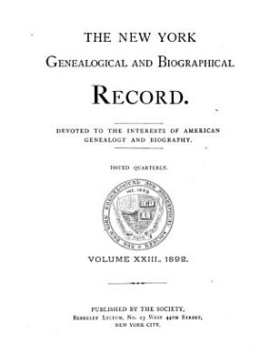 The New York Genealogical and Biographical Record PDF
