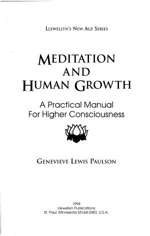 Meditation and Human Growth