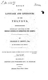 Essay on the Language and Literature of the Telugus: Volume 1