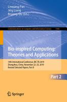 Bio inspired Computing  Theories and Applications PDF