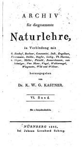 Archiv für Chemie und Meteorologie: Band 6