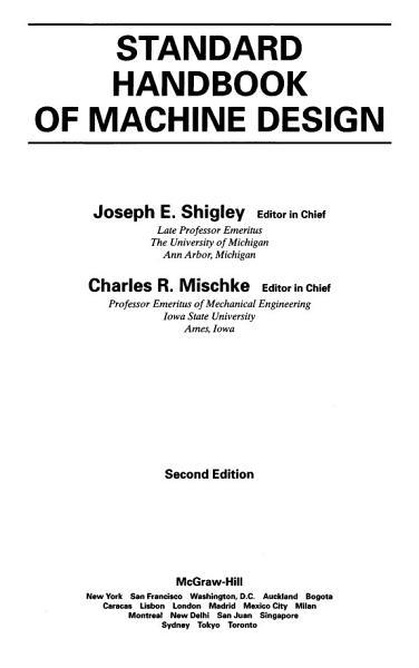 Standard Handbook of Machine Design  2nd Ed  Shigley   Mischke  1996