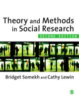 Theory and Methods in Social Research PDF